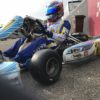 Nick tests New Mojo D5 tire for Rotax Senior Max Class at Genk.